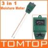 3-in-1 Garden Soil Moisture Tester Light Lux Meter& PH Meter