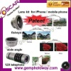 3 in 1 Lens Kits fisheye wide angle 12X telephoto Mobile Phone Housings camera lens