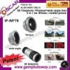 3 in 1 Lens Kits fisheye wide angle 9X telephoto Camera Lens for iphone extra parts camera lens
