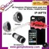3 in 1 Lens Kits fisheye wide angle 9X telephoto Mobile Phone Housings camera lens