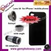 3 in 1 Lens Kits fisheye wide angle 9X telephoto mobile phone accessory camera lens
