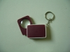 5x30mm plastic folding magnifier with keyring