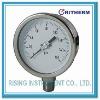 All stainless steel pressure gauge, bayonet ring