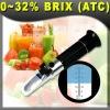 Brix Refractometer, 0-32% ATC, Fruit Juice wine NEW