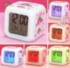 Colorful clock cartoon strawberry printing alarm clock