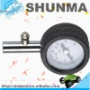 Dial gauge indicator, auto air pressure gauge, with rubber casing and pressure button, SMT4270A