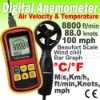 Digital Anemometer Wind Speed Meter Thermometer 0~45m/s