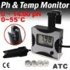 Digital pH Monitor Tester Meter Thermometer Aquarium