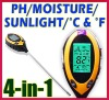 Four-in-one soil PH meter test humidity