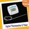 Free Shipping Digital Thermometer--Multi-purpose Thermometer & Timer for Kitchen,Factory or BBQ TA238