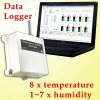 GPRS Data Analysis Logger with Multiple Temperature Alarm