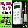 Heavy Duty pH, mV & Temperature Meter w/ auto buffer recognition