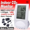 Indoor Air Quality CO2 Temperature Humidity Monitor Detector Wet Bulb WBGT