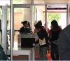 Indoor used walkthrough metal detector with LED alarm light