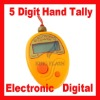 LCD Electronic Counter Digital 5Digit Hand Tally Golf Orange With 1.5V LR44 Battery Wholesale