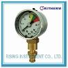 Liquid filled mining pressure gauge