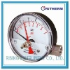Magnetic piston and compression spring differential pressure gauge