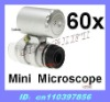Mini 60X LED Light Microscope Loupe with Currency Detecting