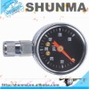 "Mini tire pressure gauge 0-60psi magnetic on stem, deluxe dial gauge, 1.5"" gauge with strsight chuck, SMT4268F"
