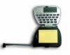Multifunction tape measure calculator with note pad