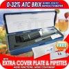 New Brix Refractometer 0-32% ATC Fruit Juice Wine CNC