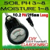 Soil ph moisture meter tester long electrode accurate