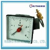 Square boiler gauge with capillary