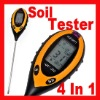 Sunlight/Moisture/Light/PH Tester Meter 4 in 1 Soil Survey Instrument