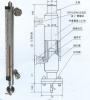 UHC-C-B type steam insulating sheath magnetic metal turnover bi-color level gauge