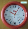 Wall Clock Style Thermometer & hygrometer