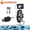 pipe inspection systems with pan and tilt camera head