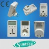 plug-in power monitor mini energy saving digital power meter with socket electricity usage monitor