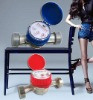 single-jet dry type brass cold/hot water meter