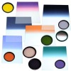 square and round colored optical filters
